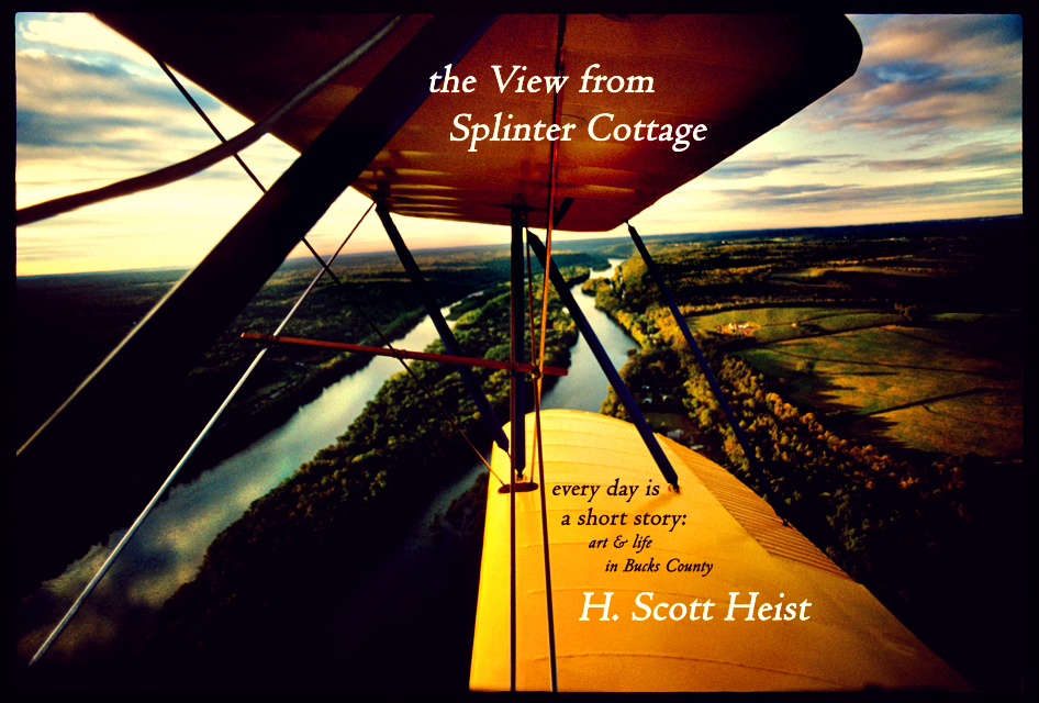 bi plane over delaware river bucks county pa ©h. scott heist 09