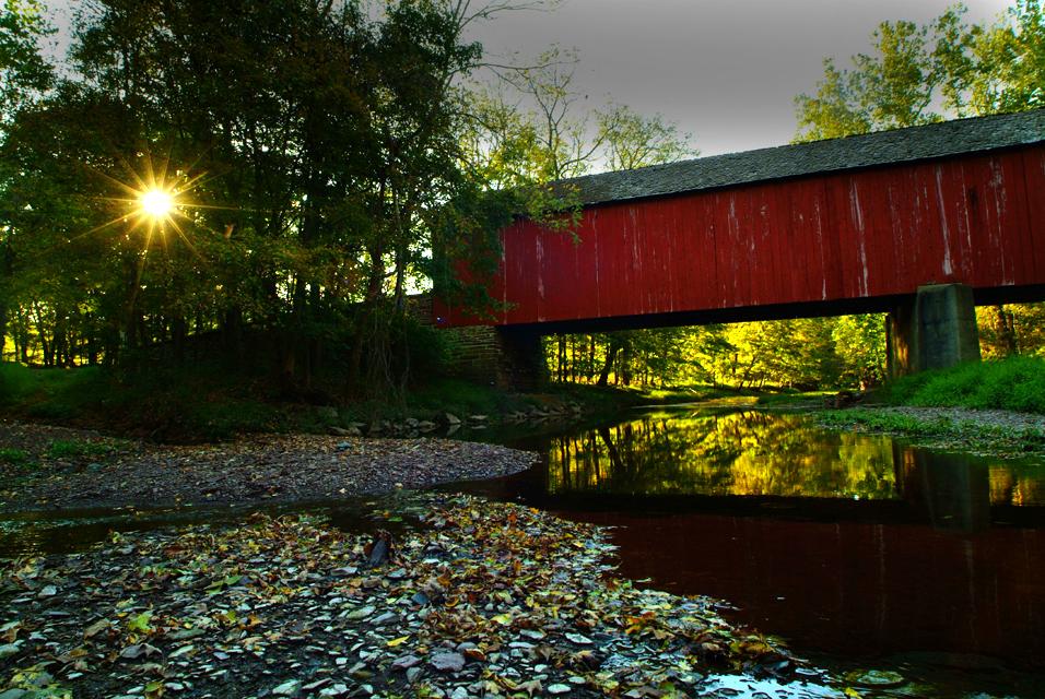 spring & a Bucks county covered bridge ©h. scott heist 09