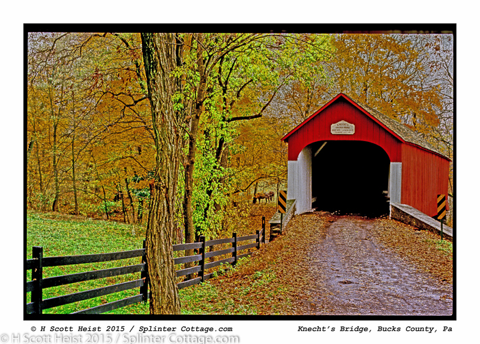 © HSH 15 knechts Covered Bridge 20X300
